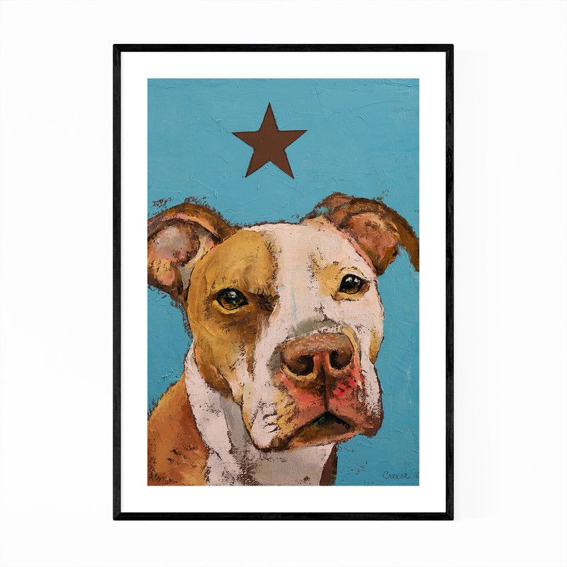 American Pit Bull Dog Animal Framed Art Print