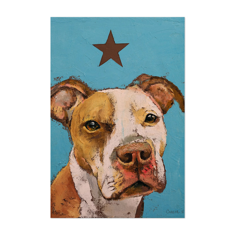American Pit Bull Dog Animal Art Print