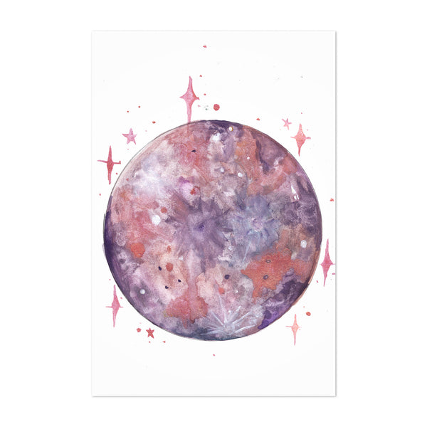 Amethyst Moon Calming Peace Art Print