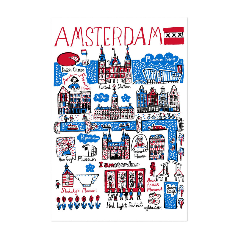 Amsterdam Travel Poster Art Print