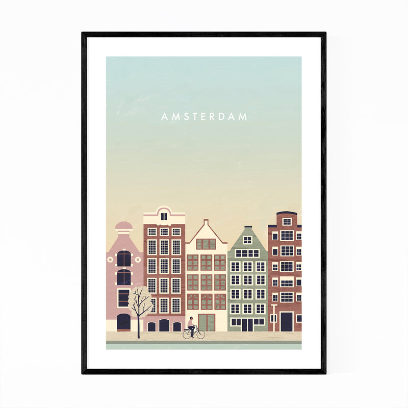 Amsterdam Netherlands Travel Framed Art Print