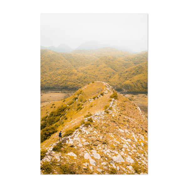Udaipur Aravali Mountain Hiking Art Print