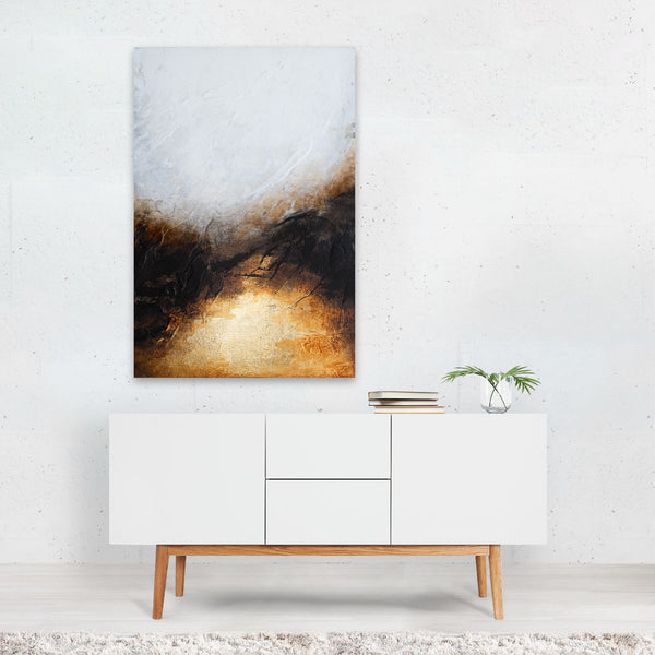 Winter Historic Abstract Painting Art Print