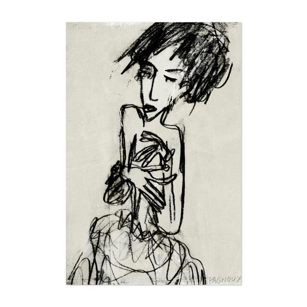 Fashion Feminine Drawing Art Print