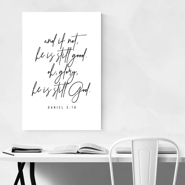 Daniel 3:18 Bible Typography Art Print