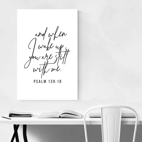 Psalm 139:18 Bible Typography Art Print