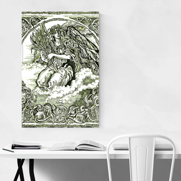 Angel Vintage Illustration Art Print