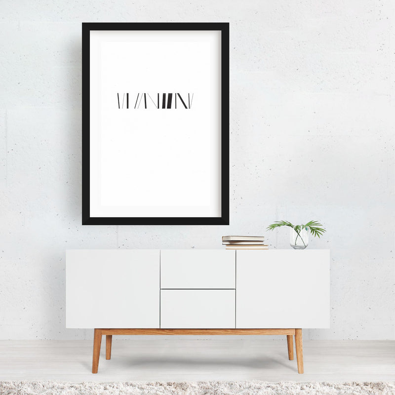 Abstract Minimal Line Drawing Framed Art Print