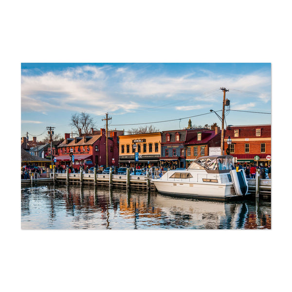 Annapolis Maryland Boats Nautical Art Print
