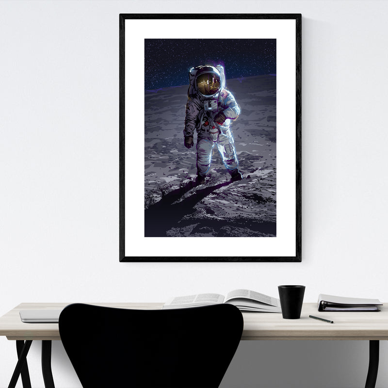 Apollo 11 Astronaut Space Framed Art Print