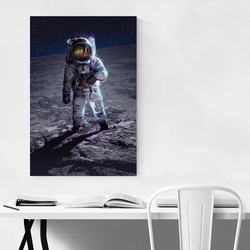 Apollo 11 Astronaut Space Art Print