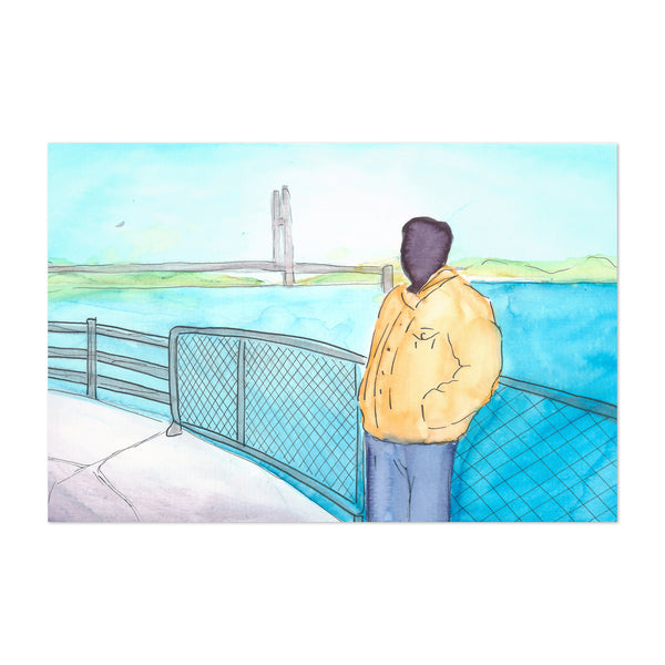 Figurative Burlington Bridge Art Print