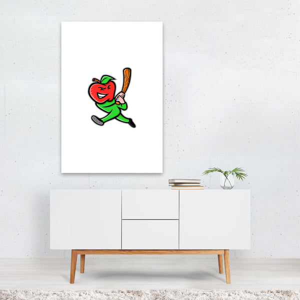 Apple Baseball Mascot Art Print