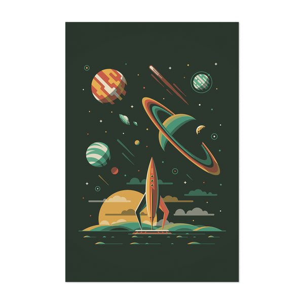 Sci-Fi Rocket Ship Space Art Print