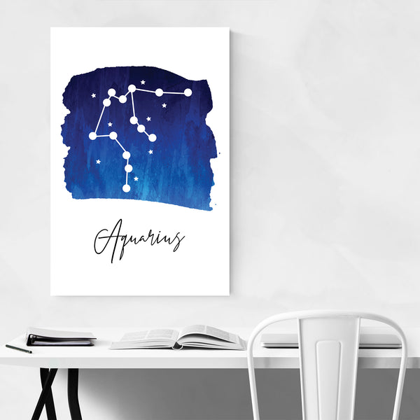 Aquarius Zodiac Constellation Art Print