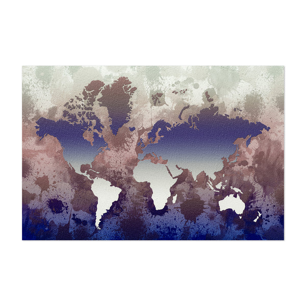 World Map Illustration Art Print