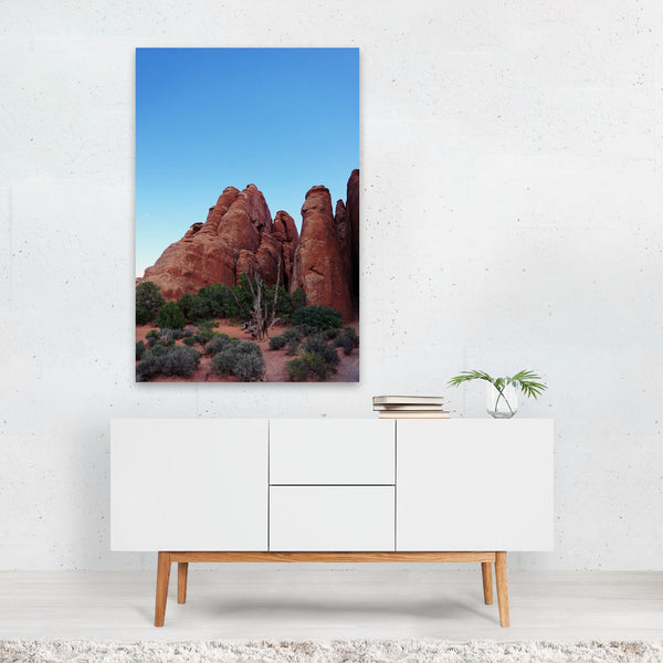 Moab Utah Night Desert Nature Photo Art Print
