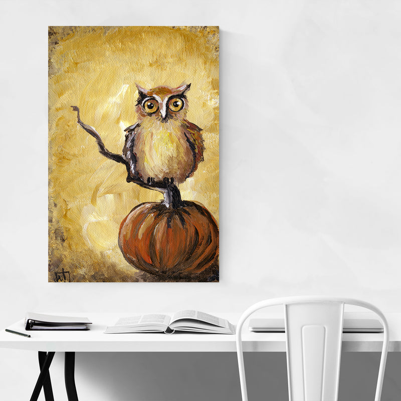 Owl Bird Animal Nature Painting Art Print