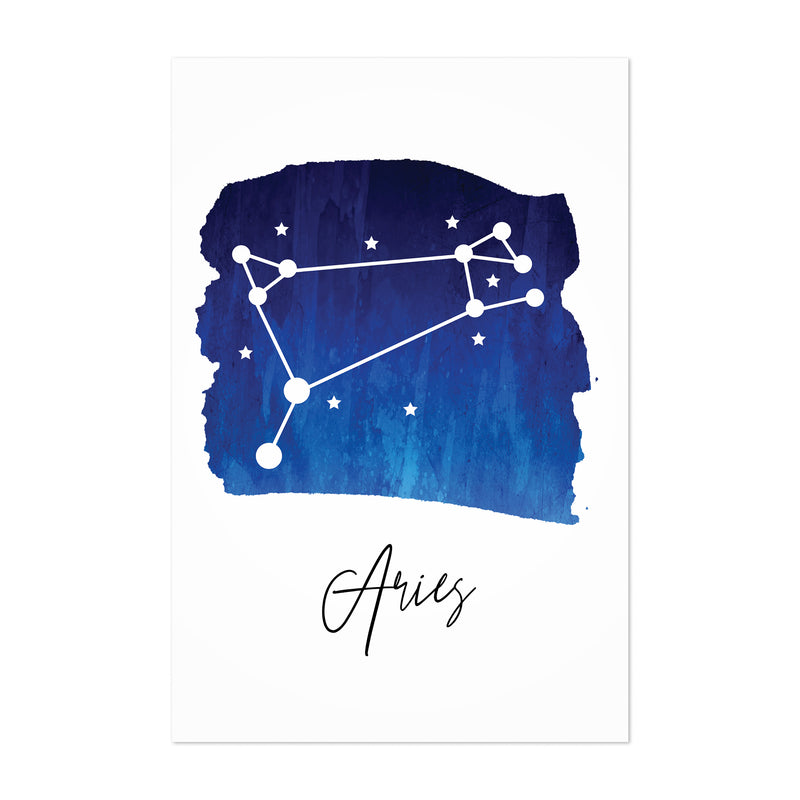 Aries Zodiac Constellation Art Print