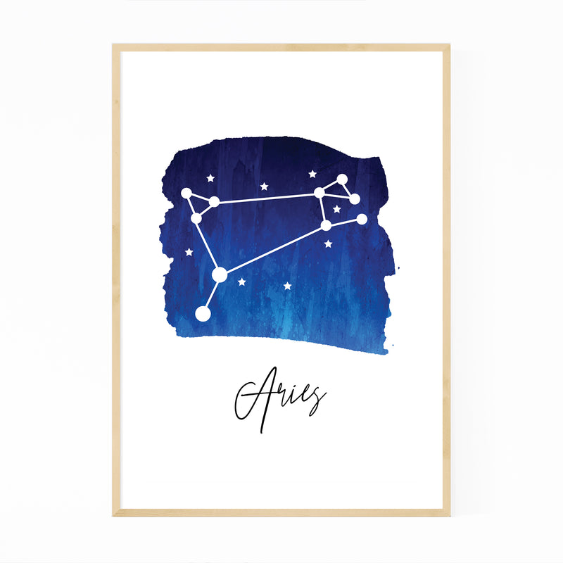 Aries Zodiac Constellation Framed Art Print