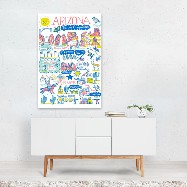 Arizona Travel Poster Art Print