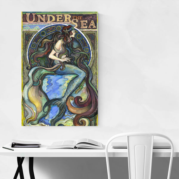 Art Nouveau Mermaid Vintage  Art Print