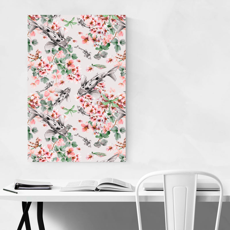 Abstract Fish Floral Botanical Art Print