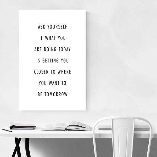 Motivational Quote Typography Art Print