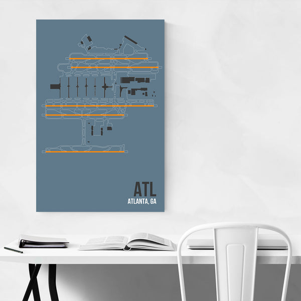 Atlanta Georgia Airport Poster Art Print