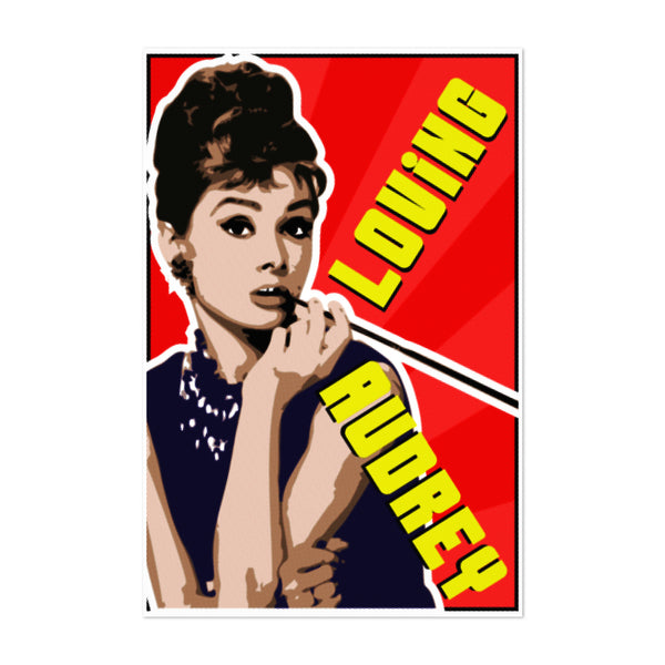 Audrey Hepburn Smoking Portrait Art Print