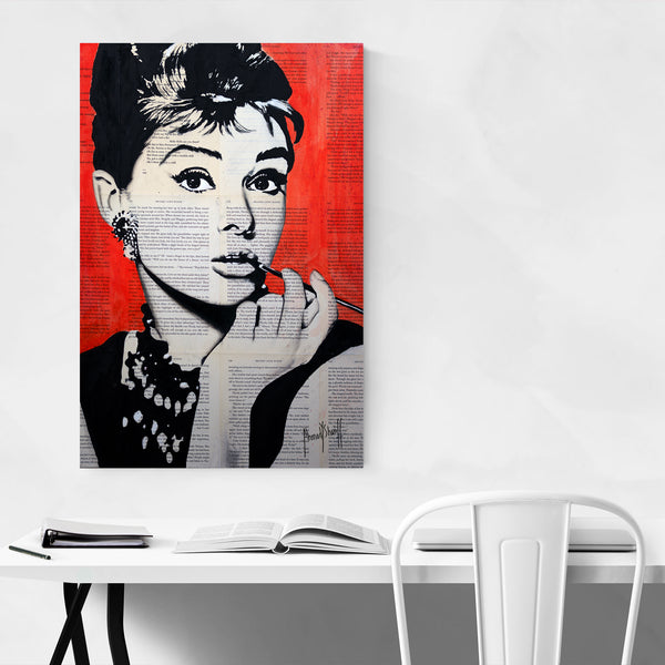 Audrey Hepburn Fashion Art Print