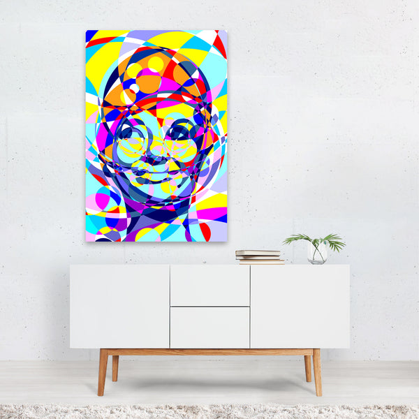 Audrey Hepburn Abstract Illustration Art Print