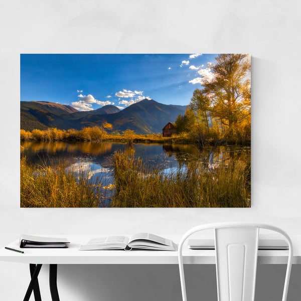 Abandoned Lake House Mountain Art Print