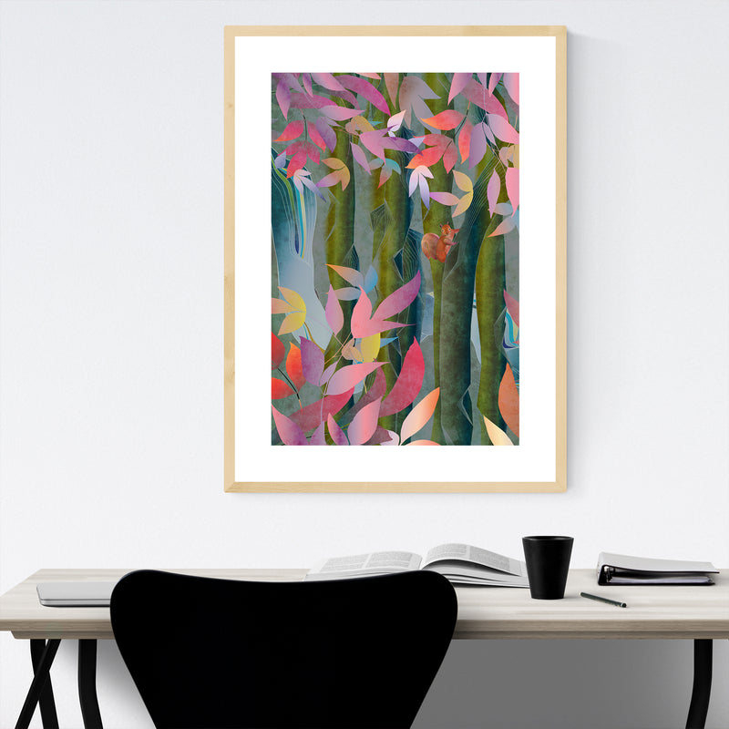 Autumn Floral Botanical Nature Framed Art Print