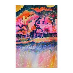 Autumn Forest Painting Art Print