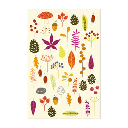Autumn Leaves Nature Pattern Art Print