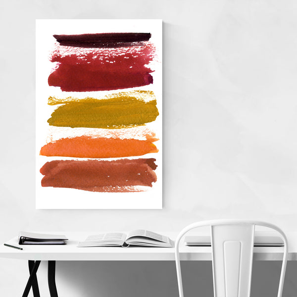 Autumn Color Abstract Painting Art Print