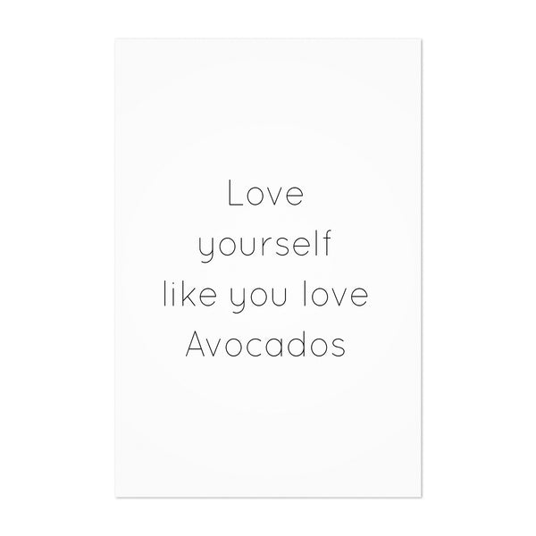 Avocado Love Typography Quote Art Print