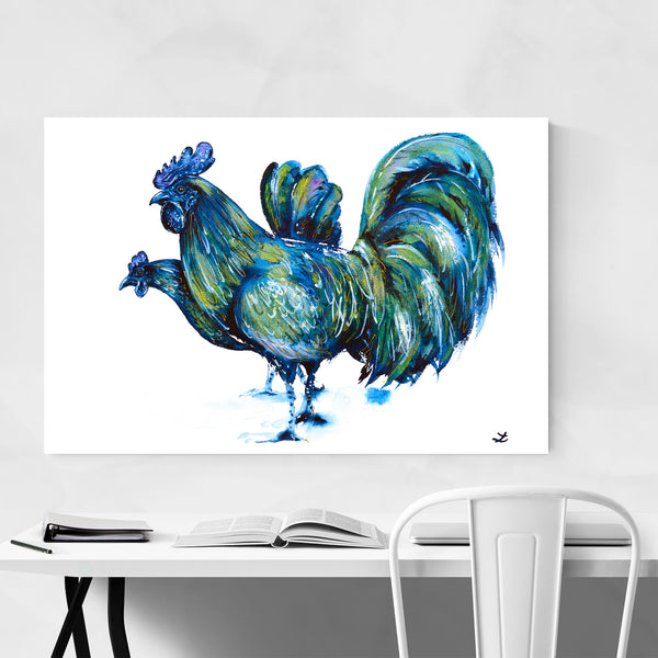 Animal Birds Chicken Painting Art Print