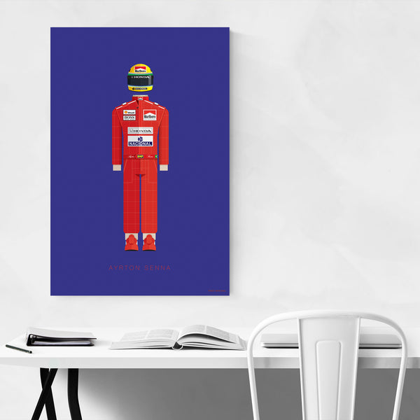 Ayrton Senna Sports Illustration Art Print