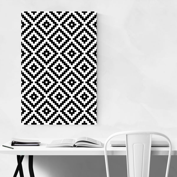 Aztec Abstract Geometric Art Print