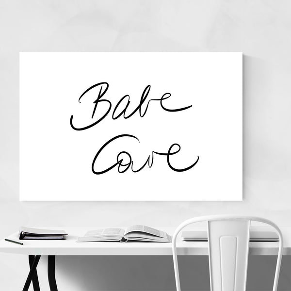 Babe Cave Dorm Feminine Fashion Art Print
