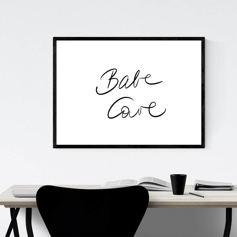 Babe Cave Dorm Feminine Fashion Framed Art Print