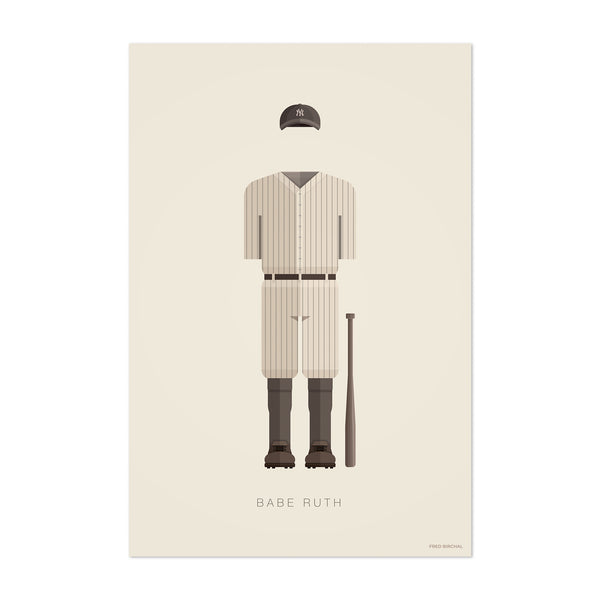 Babe Ruth Baseball Illustration Art Print