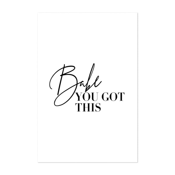 Minimal Motivational Typography Art Print