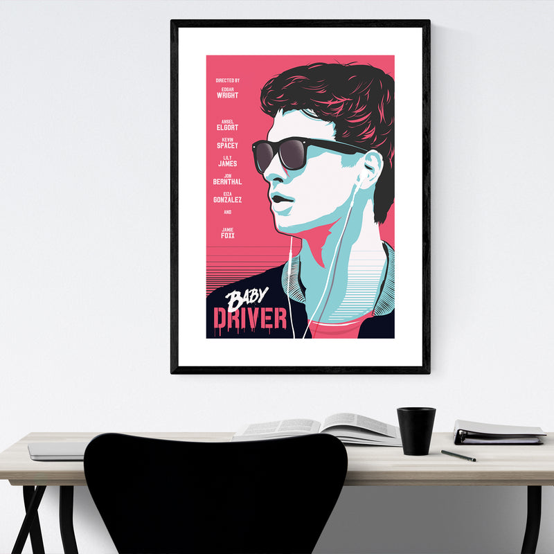 Baby Driver movie poster Framed Art Print