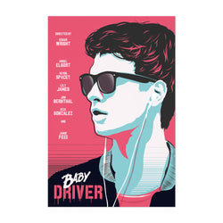 Baby Driver movie poster Art Print