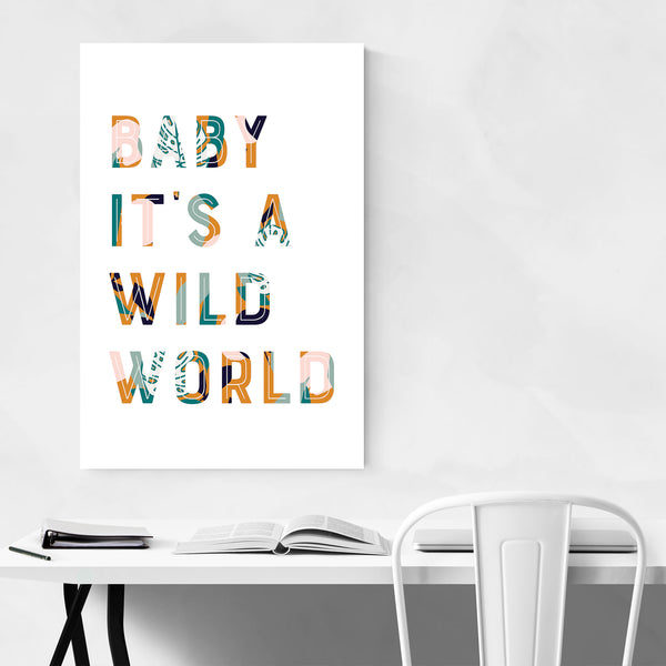 Wild World Cat Stevens Lyrics Art Print