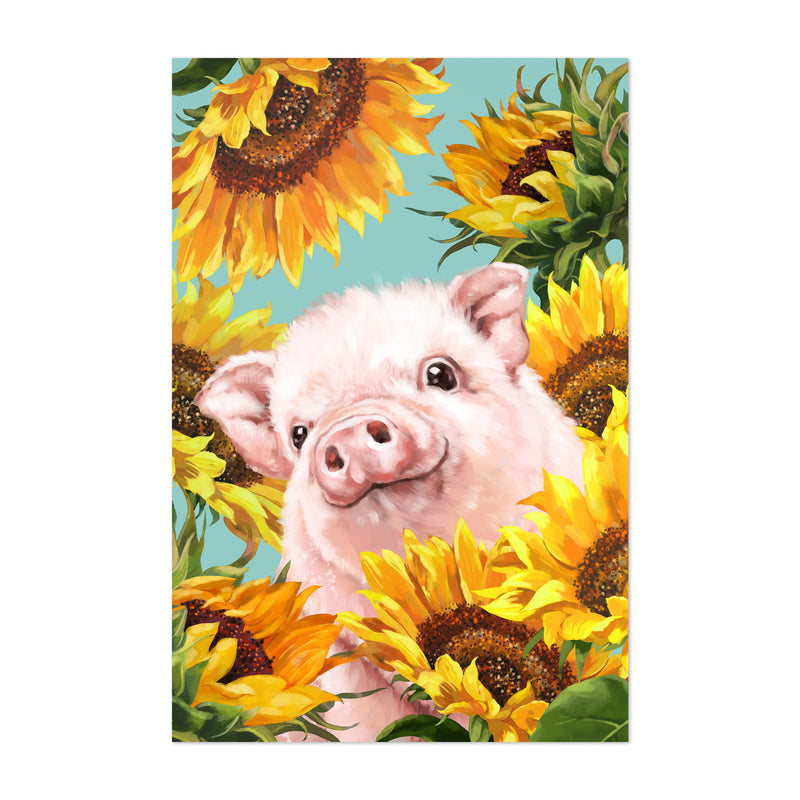 Pig Whimsical Animal Kids Room Art Print