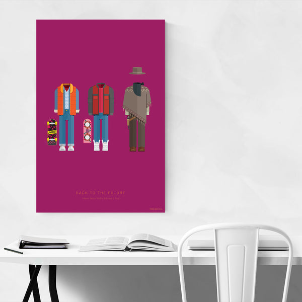 Back to The Future Illustration Art Print
